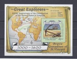 ST-VINCENT ET GRENADINE. Grands Explorateurs. Bloc Non Dentelé - St.Vincent & Grenadines