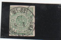 N°  15 (4c. Vert )  Obl. Luxembourg - 1859-1880 Armarios