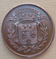 DB-082 Médaille Ancienne Cuivre Société Des Fêtes  Versaillaises Fondée En 1862 Reconstituée En 1873 - Bronzes
