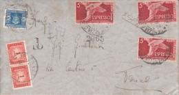 STORIA POSTALE-BUSTA .VG 1947 DA VENEZIA X TORINO-FILATELIA-FRANCOBO LL I-TIMBRE -LOOK- ZIE 2 SCAN- - Advertising