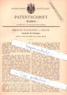 Original Patent - Hermann Schimansky In Berlin , 1888 , Kerzenhalter Für Christbäume !!! - Schmuck Und Dekor