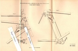 Original Patent - Wiliam Walker Reid In Edinburgh , 1900 , Spring-loaded Rack For Bicycle !!! - Transportation
