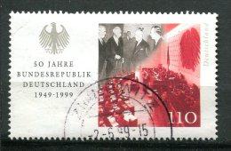 """Germany 1999  Mi. Nr.2051 Aus Block 49  """"50 Jahre Bundesrepublik,politische Anfänge """" 1 Wert  Used ,gestempelt   . - [7] République Fédérale"""