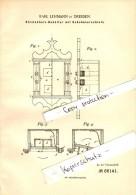 Original Patent - Karl Lehmann In Dresden , 1892 , Streichholzbehälter Mit Geheimverschluß , Streichholzschachtel !!! - Zündholzschachteln