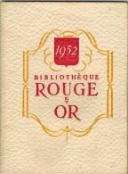 Bibliothèque Rouge Et Or CALENDRIER ILLUSTRE DELAUNAY FABLE CONTES Mille Et Une Nuit Seiglière Helgvor Momie St Antoine - Calendriers