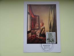 CARTE MAXIMUM CARD LA FILLE LISANT DE VERMEER VAN DELFT DDR - Art