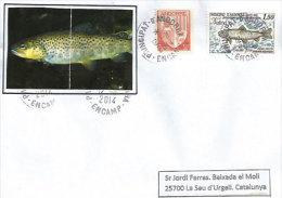 ANDORRE. La Pêche à La Ligne à La Truite.,adressée En Catalogne, Postée Du Village D´Encamp. - Poissons