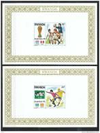 R�p. Rwandaise - 1978, LX 881/88 @XX-MNH@  ND-IMP, 8 feuillets, coupe du monde de football en Argentine, sports