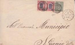 STORIA POSTALE-BUSTA .VG DA SPILIMBERGO 1880 X S. GIOVOIO DELLA-FILATELIA-FRANCOBO LL I-TIMBRE -LOOK- ZIE 2 SCAN- - Publicités