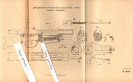 Original Patent - Österreichische Waffenfabrik In Steyr , 1885 , Drehmagazin Für Hinterlader-Gewehre !!! - 1914-18