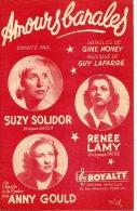 PARTITION 40-60 AMOURS BANALES SUZY SOLIDOR RENÉE LAMY ANNY GOULD MONEY LAFARGE 1948 - Autres