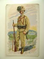 BERSAGLIERI   D'AFRICA    BERSAGLIERE  AFRIQUE    MILITARE   FORMATO  PICCOLO  VIAGGIATA  CON BOLLO RIMOSSO - Uniformi