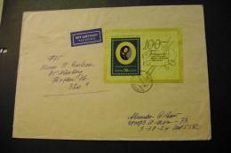 Russia 3902 Kramskoi Souvenir Sheet Block On Cover 1971 A04s - 1923-1991 USSR