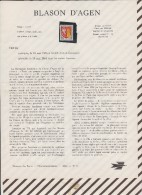 348 Document Poste Telecommucation 1964 N°11 Timbre Oblitéré  BLASON D'AGEN - Documents De La Poste