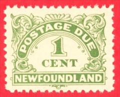Canada Newfoundland # J1 - 1 Cent - Mint N/H - Dated  1939 - Postage Due /  Terre-Neuve - Newfoundland