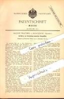 Original Patent - August Walther In Moritzdorf / Ottendorf-Okrilla I.S. , 1890 , Herstellung Konischer Glas-Gefäße !!! - Glas & Kristall