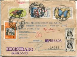 R- Letter  (738966)  ?   To Romania - Brésil