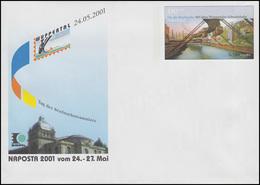USo 28 NAPOSTA & Wuppertaler Schwebebahn 2001, Postfrisch - BRD