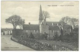 1916, 3741. Loctudy - L´Egliese Et Le Presbytère. - Loctudy