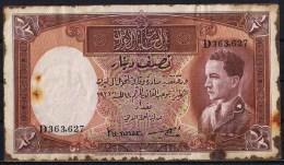 Iraq , Irak 1/2 Dinar Banknote 1935 King Ghazie