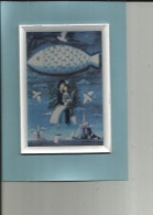 Carte Postale Glacée De Peintre Dans Petit Cadre En Relief En Plastique Dur Blanc ( Neuve Bon Etat - Peynet