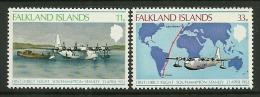 """Falkland Islands       """"Airplanes""""     Set     SC# 276-77    MNH** - Falkland"""