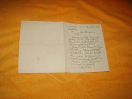PETITE NOTE OU LETTRE DE 1915. / J. LHUISSIER ANCIEN NOTAIRE / TOURS INDRE ET LOIRE / GENEALOGIE - Old Paper