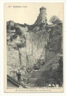 Cp, 38, Crémieu, Carrières Et La Tour De St-Hippolyte - Crémieu