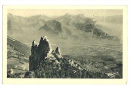 Cp, 38, Dauphiné, Les 3 Pucelles, Vue Sur Grenoble Et Le Massif De La Chartreuse, Voyagée 1921 - Non Classés