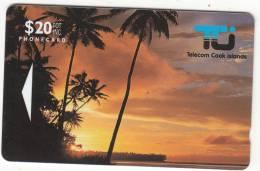 COOK ISL (GPT) - Sunset In Rarotonga, First Iussue $ 20, CN : 01CID, Tirage 10400, 10/92, Used - Cook Islands