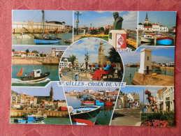 Cpm Saint GILLES CROIX De VIE , 108 , Le Port De Peche De Croix De Vie ...., Multivues (1.837) - Saint Gilles Croix De Vie