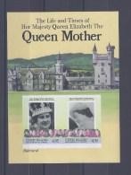 UNION ISLAND. 85e Anniversaire De La Reine Mère Elizabeth II. Bloc Non Dentelé - St.Vincent & Grenadines