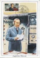 ITALIA - FDC MAXIMUM CARD 1995 - GUGLIELMO MARCONI - RADIO - Cartoline Maximum