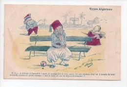 Types Algériens - Signée Assus - N° 5 Homme Seul Sur Un Banc (18) - Illustrators & Photographers