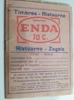 ENDA Alimentation Ristourne Carnet TIMBRE ( Avec/met Zegels 8 Pag. - NL / FR ) ( Voir Photo Pour Detail )! - Publicités