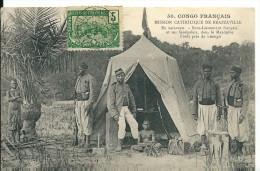 Congo Français ,1907, Sous Lieutenant Français Et Ses Sénégalais ,en Caravane - Congo Francés - Otros