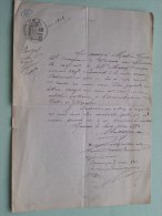 3 Vieux Document D´Origine De FRANCE ( Huissier Brothier...... ) Ancerville .. 1904 / 1883 ( Voir Photo Pour Detail )! - France
