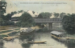 94 VILLENEUVE SAINT GEORGES - Pont Du Chemin De Fer Traversant L'Yerres - Villeneuve Saint Georges