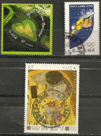 "France 2002 Oblitéré N° 3459 - 3460 - 3461  "" Coeur Arthus Bertrand   -  JO D'hiver Salt Lake City  -  Gustav Klimt  "" - France"