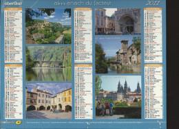 CALENDRIER ALMANACH DES PTT 2011 Oberthur Sur Les Chemins De St Jacques (édition De L'Essonne) 40 Pages Intérieures - Tamaño Grande : 2001-...