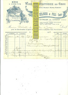 70 - Haute-saône - PORT-D'ATELIER - Facture ZELIKER - Vins Et Spiritueux En Gros – 1922 - REF 167 - France