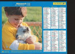 CALENDRIER ALMANACH DES PTT 2006 Lavigne Enfants Animaux (édition De La Drôme) 32 Pages Intérieures - Tamaño Grande : 2001-...