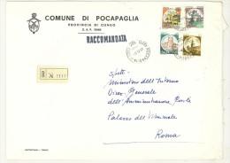 CAP 12060 - POCAPAGLIA - CN - RACC - PIEMONTE -  ANNO 1981 - F.TO 18 X 24  - STORIA DEI COMUNI D´ITALIA - Affrancature Meccaniche Rosse (EMA)