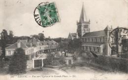 CPA Sanvic - Vue Sur L'Église Et La Grande Place - Autres Communes