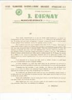 Lettre Commerciale , Cycles , Vélomoteurs , Horlogerie , T.S.F. , Ets J. Dirnay , Mulhouse-Dornach , Haut Rhin - Factures & Documents Commerciaux