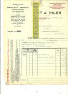 70 - Haute-saône - ARC-LES-GRAY - Facture IHLER - Manufacture De Produits Lixiviels – 1928 - REF 167 - 1900 – 1949