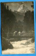 Mans802, Zermatt, La Viège, Le Cervin, Matterhorn, Animée, Circulée 1929 Timbre Décollé - VS Valais