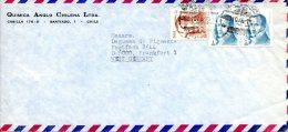 CHILI. N°460-1 De 1976 Sur Enveloppe Ayant Circulé. Diego Portales. - Chile