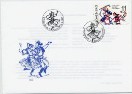SLOVAKIA 1997 Folklore Festival  FDC With Stamp Ex Block.  Michel 279 - FDC