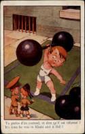 SPORTS - HALTEROPHILIE - Fantaisies Enfants - Haltérophilie